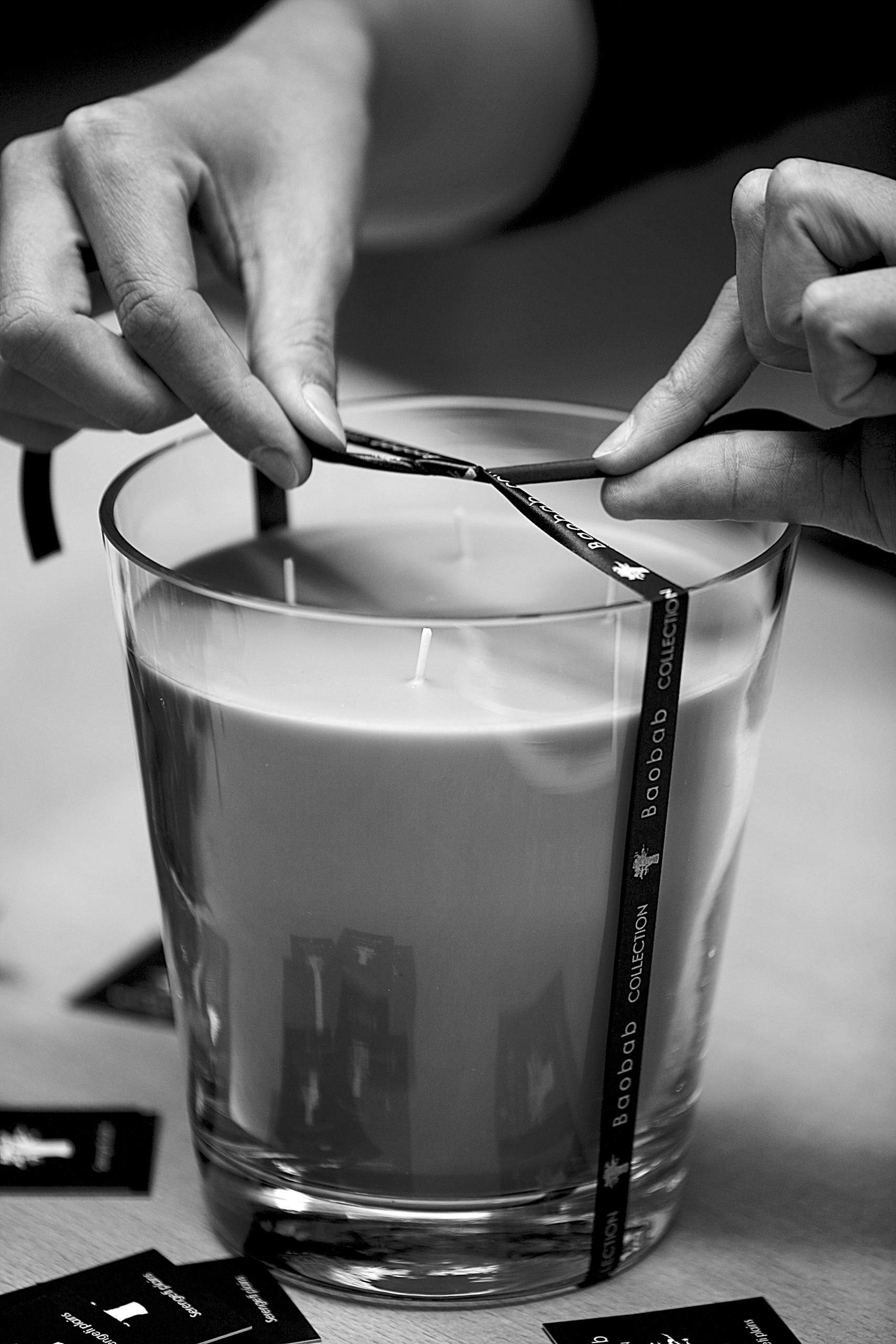 Fabrication des bougies Baobab